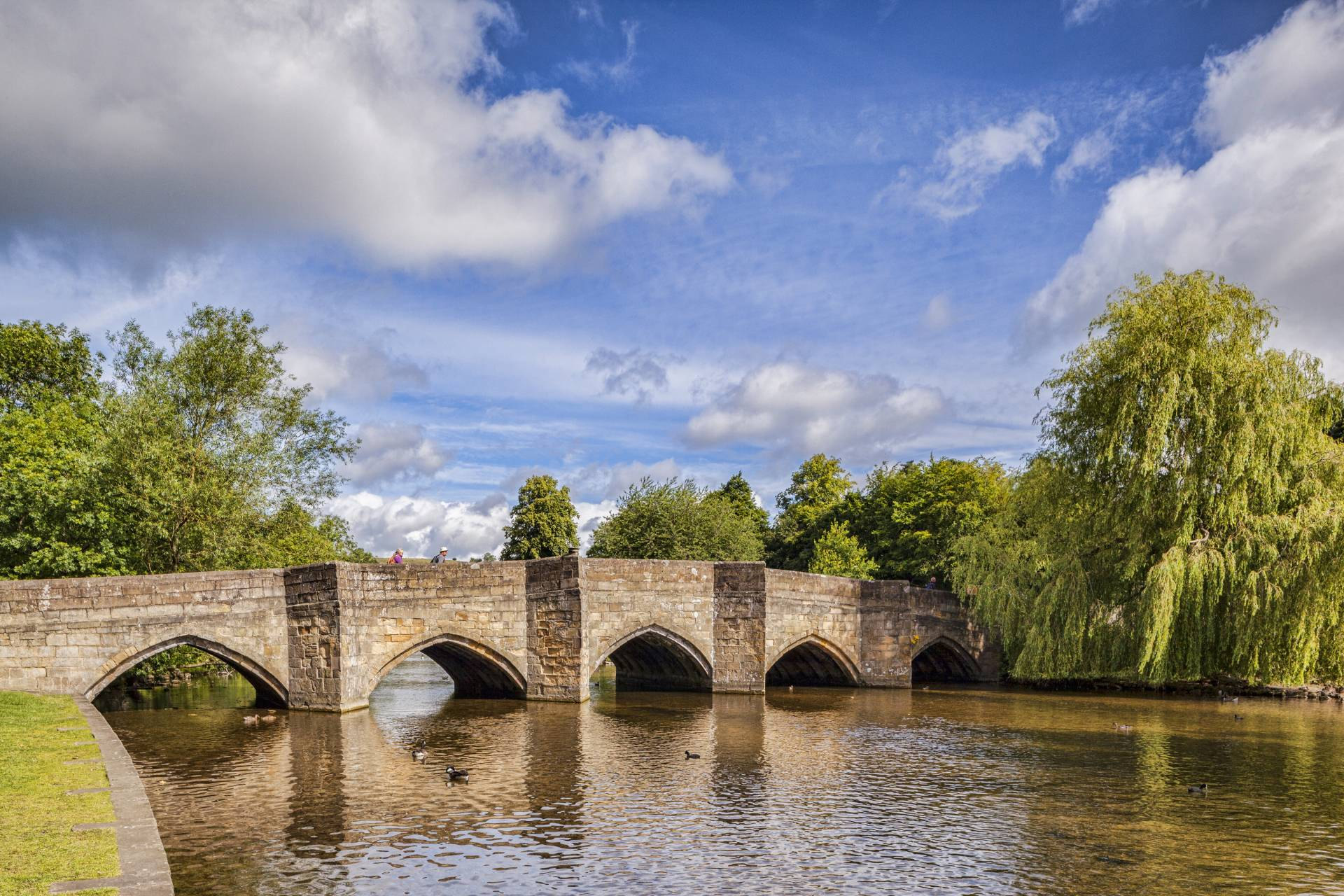 Bakewell bridge over the River Wye in the Peak District